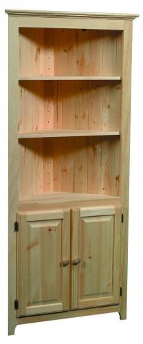 Archbold Pine Shaker Corner Cabinet