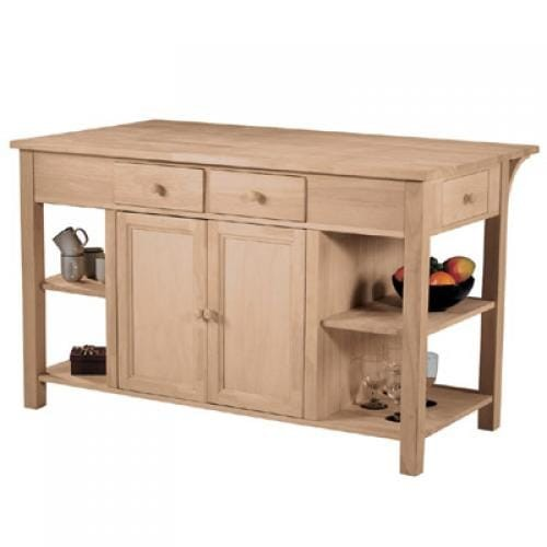 Whitewood Furniture Kitchen Center And Breakfast Bar Oak Factory Outlet Furniture Store