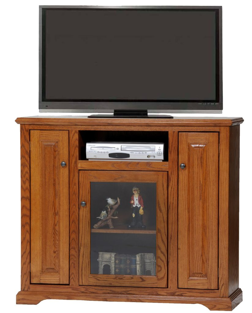 47 Quot Oak Deluxe Tall Tv Stand Oak Factory Outlet