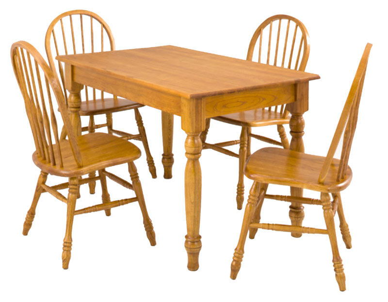 Farmhouse leg table oak factory outlet furniture store for Dining room tables knoxville tn