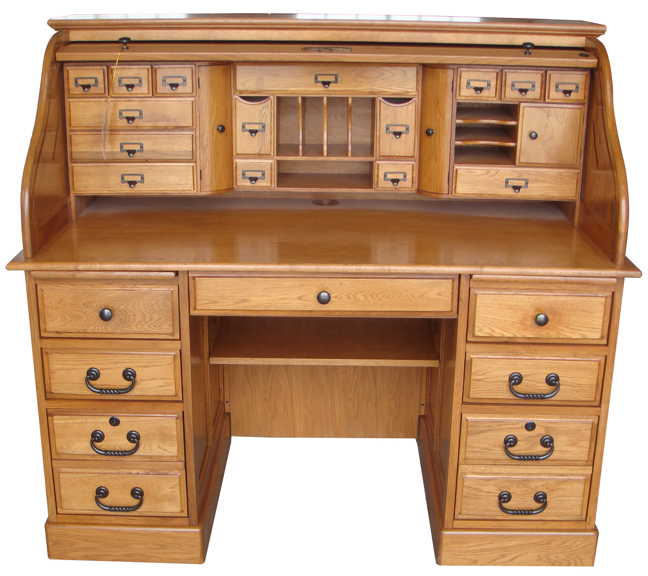 Quot deluxe roll top desk oak factory outlet furniture store