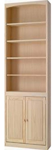 Archbold Furniture 24 Quot Wide Pine Bookcase W Doors Oak Factory Outlet Furniture Store