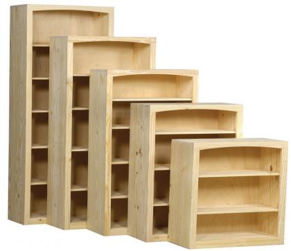 Archbold Furniture 36 Quot Wide Pine Bookcase Oak Factory