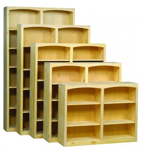 Archbold Furniture 48 Wide Center Divider Pine Bookcase Oak