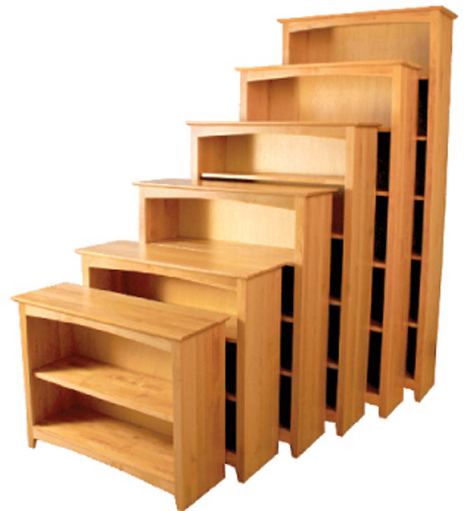Wood bookcases at our furniture store in Nashville, TN, shop office furniture at Oak Factory Outlet Furniture Store.