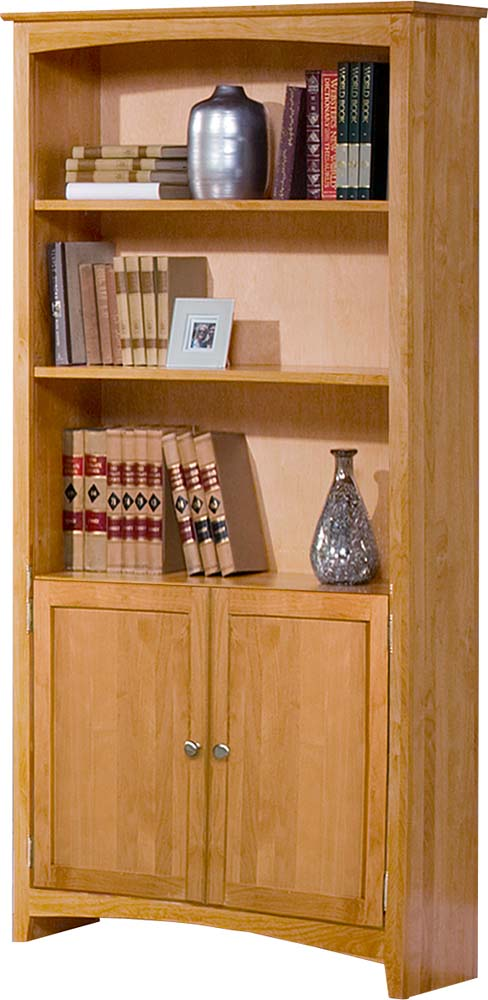 Archbold Furniture Alder 72 Quot Bookcase W Doors Oak