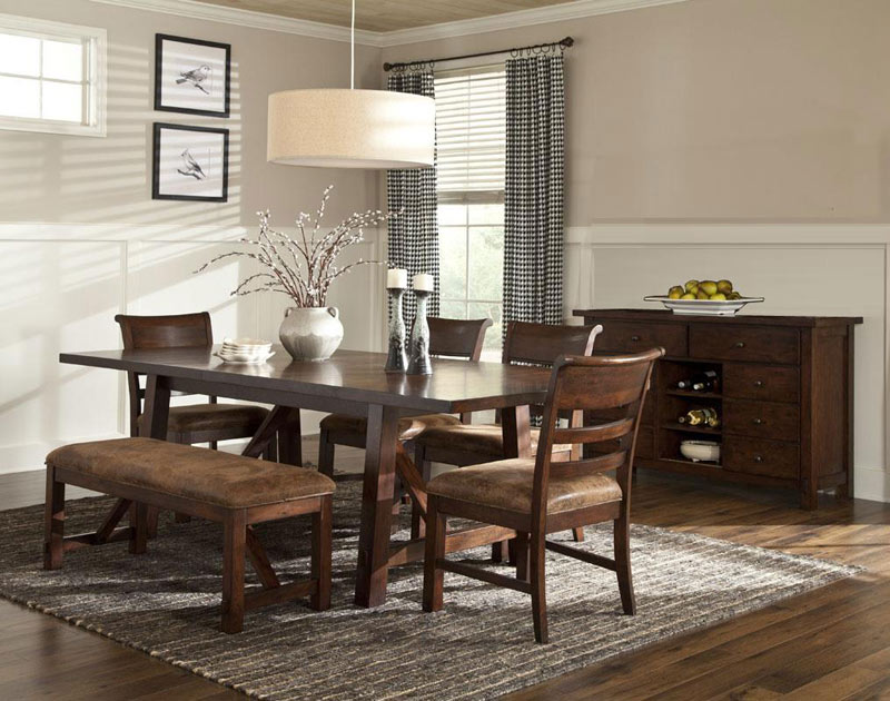 Rustic heirloom dining set oak factory outlet furniture for Dining room tables knoxville tn