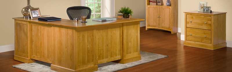 Archbold Furniture Alder L Shape Desk Oak Factory Outlet